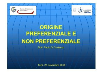 Differenze origine preferenziale e non preferenziale [modalità ...