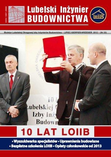 Nr 23. Pobierz w formacie PDF - Lubelska Okręgowa Izba ...