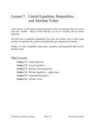 Lesson 7: Literal Equations, Inequalities, and Absolute Value