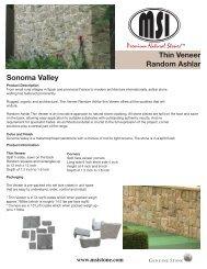 Sonoma Valley Thin Veneer Random Ashlar - Natural Stone