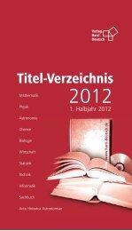 Gesamtkatalog - Verlag Harri Deutsch