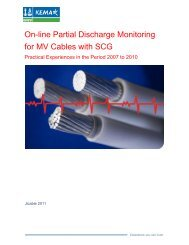 On-line Partial Discharge Monitoring for MV Cables ... - DNV Kema