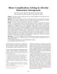 Minor Complications Arising in Alveolar Distraction Osteogenesis