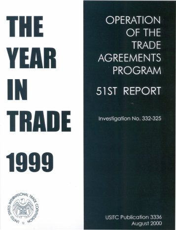 Operation of the Trade Agreements Program (51st Report) - USITC
