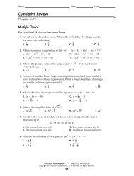 cumulative review 1-12 - MathChamber