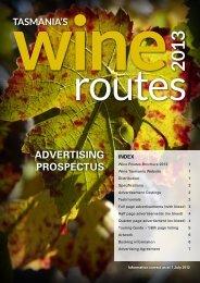 ADVERTISING PROSPECTUS - Wine Tasmania