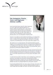 Der Komponist, Pianist, Autor und Regisseur Dietmar Loeffler