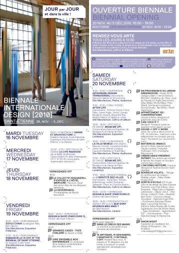 Télécharger le programme Jour par jour [pdf] - Biennale ...