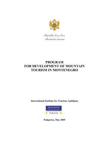 program for development of mountain tourism in montenegro