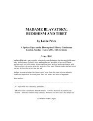 MADAME BLAVATSKY, BUDDHISM AND TIBET by Leslie Price