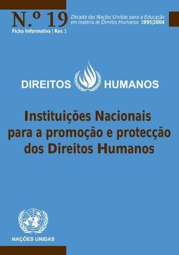 Instituições Nacionais para a promoção e proteção dos ... - DHnet