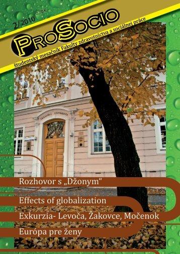 2/2010 - Fakulta zdravotníctva a sociálnej práce - Trnavská ...