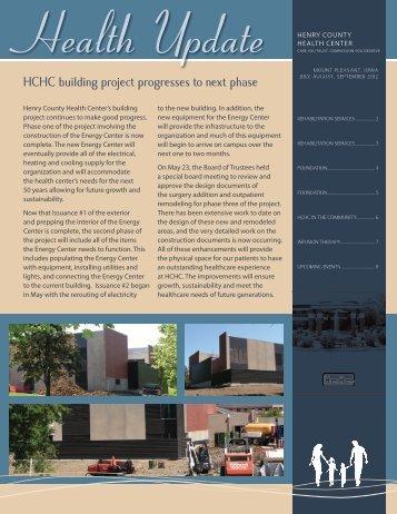 July, August, September 2012 - Henry County Health Center