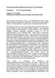 Laudatio Krüger - Veterinärmedizinische Fakultät - Universität Leipzig