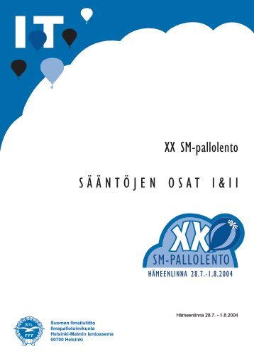 SM 2004, säännöt, osat I ja II - Pallo.net