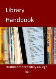 STAFF LIBRARY HANDBOOK 2012