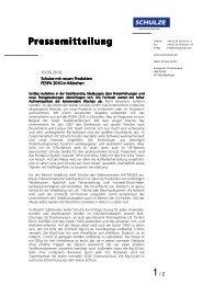 FESPA 2010 Neue Produkte - Walter Schulze GmbH