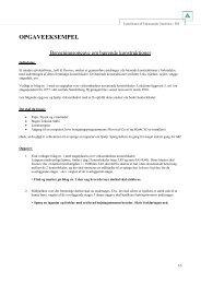 Beregningsopgave 1 - Bærende konstruktioner