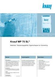Knauf MP 75 SL® - Timo.nl