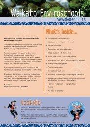 Enviroschools Newsletter no. 13 - Waikato Regional Council