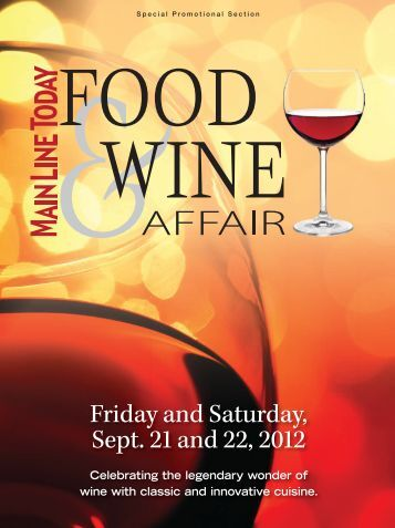 Friday and Saturday, Sept. 21 and 22, 2012 - Main Line Today