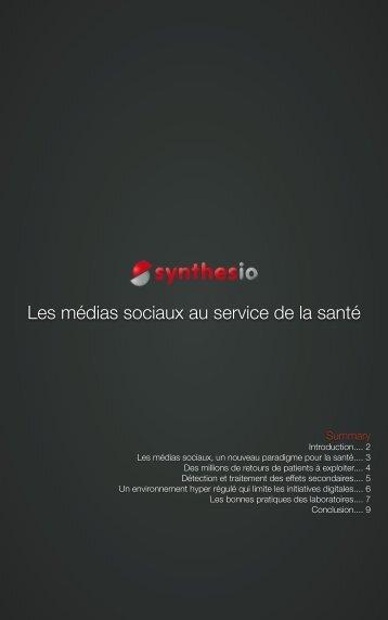 Les médias sociaux au service de la santé - Synthesio