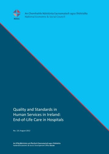 Quality Standards for End-of- Life Care in Hospitals - the NESC ...