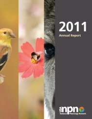 Annual Report - USA National Phenology Network