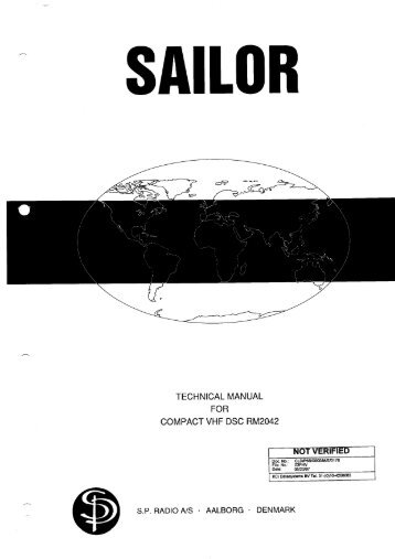 TECHNICAL MANUAL FOR COMPACT VHF DSC RM2042