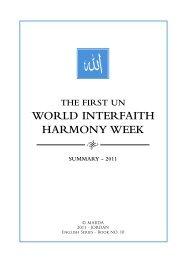 world interfaith harmony week - The Royal Islamic Strategic Studies ...