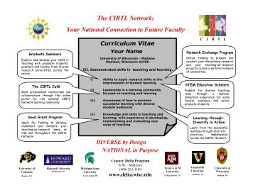 The CIRTL Network: Your National Connection to Future Faculty