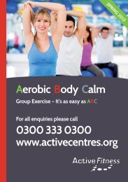 Aerobic Body Calm Group Exercise - Active Centre