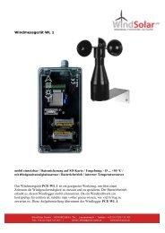 Windmessgerät WL 1 mobil einsetzbar / Datensicherung auf SD ...