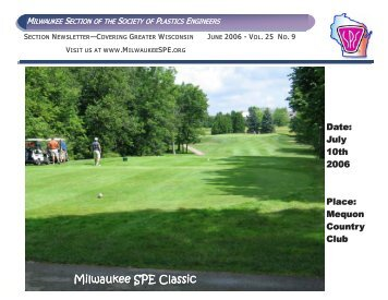 June 2006 Newsletter - SPE-Milwaukee Section