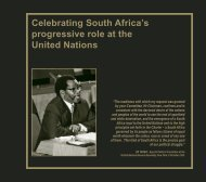Celebrating South Africa's progressive role at the United Nations