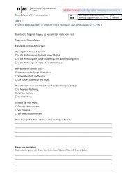 AB 12 Fragen zum Kapitel 5: Immer noch Montag: Auf dem Dach (S ...