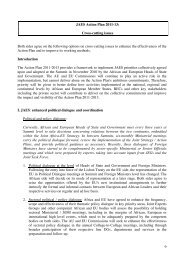 JAES Action Plan 2011-13: Cross-cutting issues Both sides agree ...