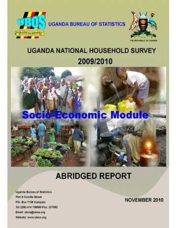 National Household Survey - Uganda Bureau of Statistics
