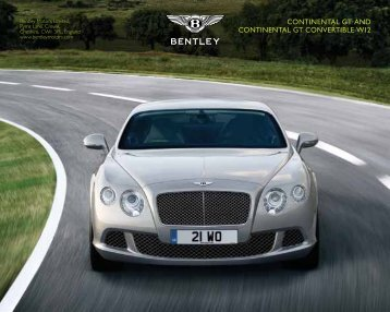 continental gt and continental gt convertible w12 - Bentley Motors