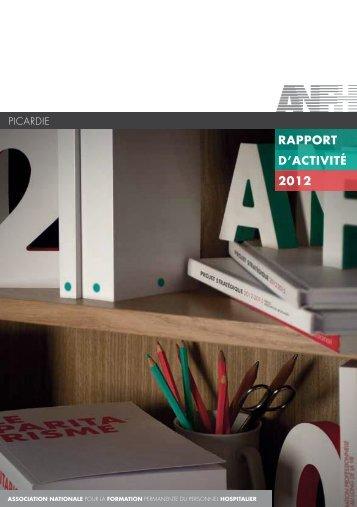 RAPPORT D'ACTIvITé 2012 - Anfh