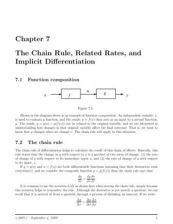 Worksheets Implicit Differentiation Worksheet chain rule implicit differentiation worksheet chapter 7 the related rates and differentiation