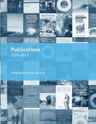 Publications - United Nations University