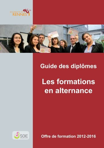 Les formations en alternance - Université de Rennes 1