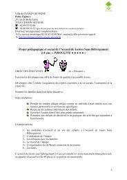 Téléchargez ici le projet pédagogique - Cesson-Sévigné