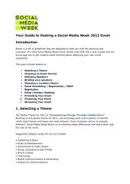 Your Guide to Hosting Social Media Week 2012 Events - Chinwag