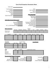 Irrigation Data Collection Form