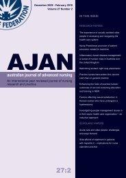 December 2009 - Australian Journal of Advanced Nursing