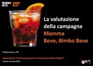 Stefania Bazzo - Marketing sociale e Comunicazione per la salute