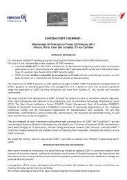 SWIFT cv - EUROSAI IT Working Group