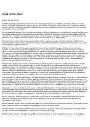 Exame Neurológico - Síntese Famema - marchioli